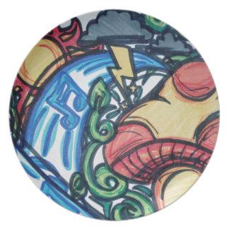 Mushroom hippie plate