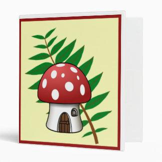 Mushroom House 3 Ring Binders