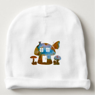 Mushroom House Baby Beanie