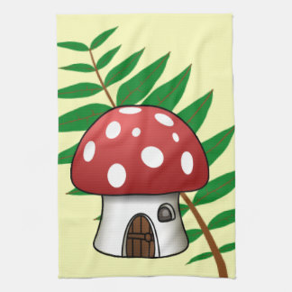 Mushroom House Kitchen Towels
