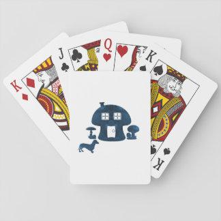 Mushroom House Playing Cards