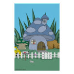 Mushroom House Print