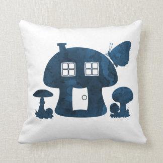 Mushroom House Throw Pillow
