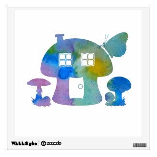 Mushroom House Wall Decal