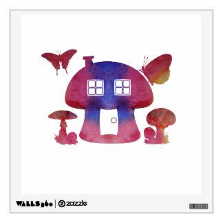 Mushroom House Wall Sticker
