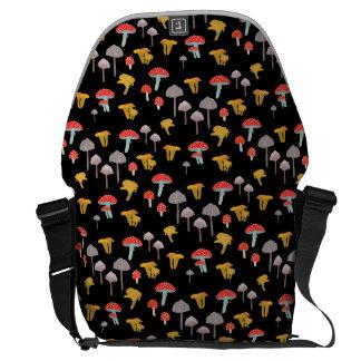 Mushroom hunting messenger bags