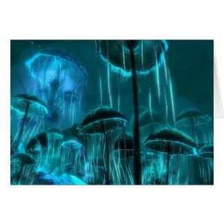 Mushroom Jellyfish Card