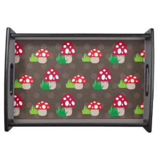 mushroom kids pattern food trays