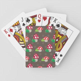 mushroom kids pattern playing cards