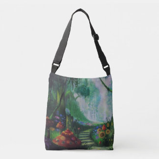 Mushroom Land of forrest Crossbody Bag