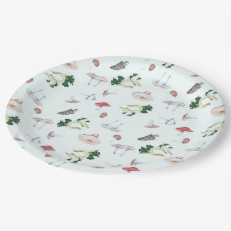 Mushroom Mix Paper Plates 9 Inch Paper Plate