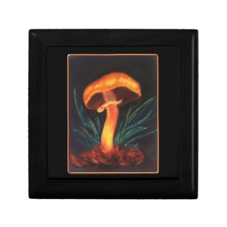 Mushroom on Black Small Tile Gift Box