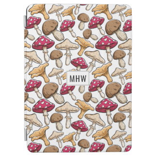 Mushroom Pattern custom monogram device covers iPad Air Cover