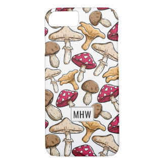 Mushroom Pattern custom monogram phone cases