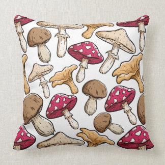 Mushroom Pattern throw pillows