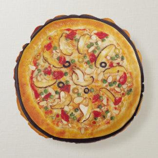 Mushroom Pizza Round Pillow