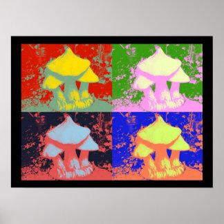 Mushroom Popart, Poster