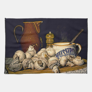 Mushroom Soup Kitchen Still Life Kitchen Towel