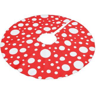 Mushroom Spots Tree Skirt Brushed Polyester Tree Skirt