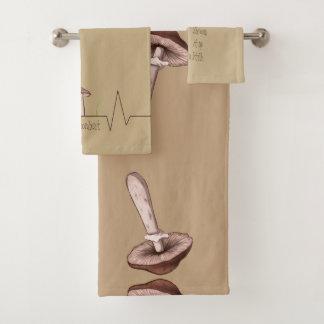 Mushroom towels with unique designs