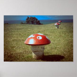 Mushroom vents poster