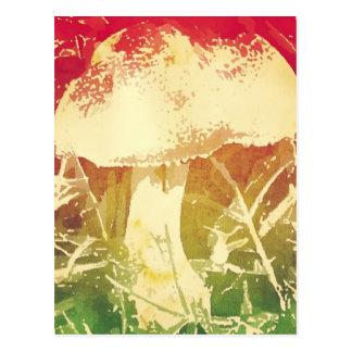 Mushroom Watercolor Postcard