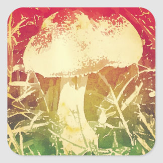 Mushroom Watercolor Stickers