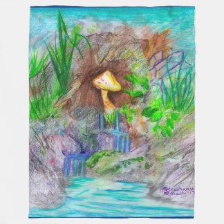 Mushroom  Waterfall Blanket