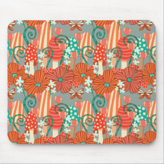 Mushrooms and Fall Flora Mouse Pad