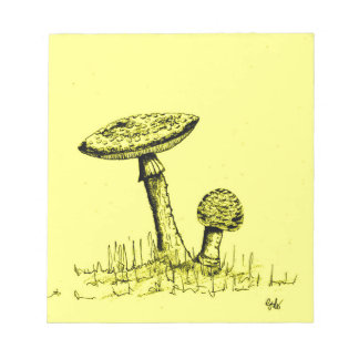 Mushrooms and Toadstools art. Notepad