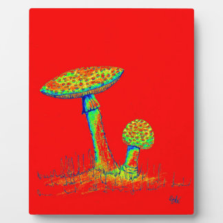 Mushrooms and Toadstools art. Plaque
