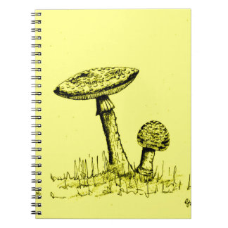 Mushrooms and Toadstools art. Spiral Notebook