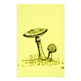 Mushrooms and Toadstools art. Stationery