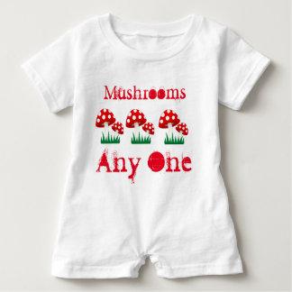Mushrooms Any One Baby Romper
