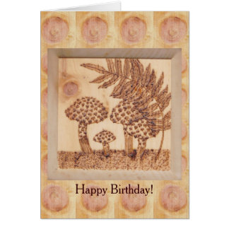 Mushrooms Autumn Birthday Rustic Woodland Card