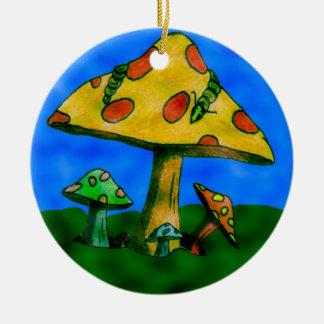 Mushrooms Ceramic Ornament