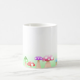Mushrooms in Pixel art Coffee Mug