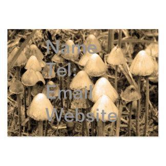Mushrooms in Sepia Large Business Card