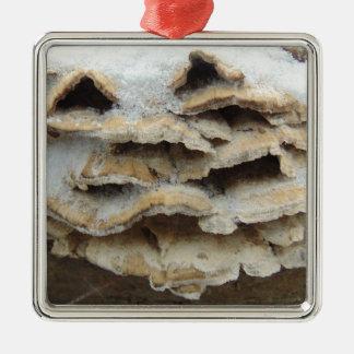 Mushrooms In Winter Metal Ornament