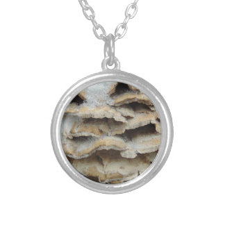 Mushrooms In Winter Silver Plated Necklace
