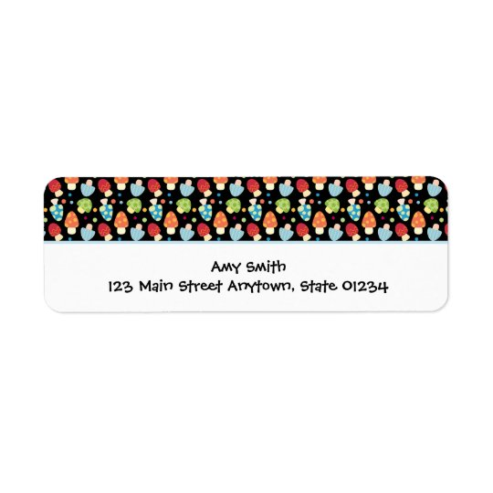 Mushrooms Label Blank Return Address Label