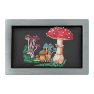Mushrooms Rectangular Belt Buckles