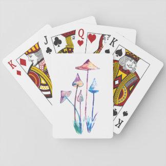 Mushrooms Watercolor ArtClassic Playing Cards