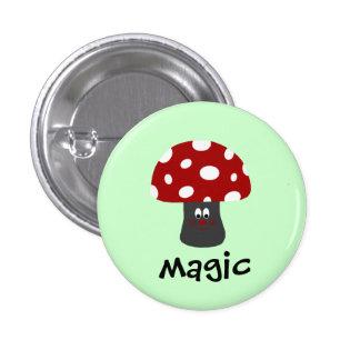 Mushroon Magic 1 Inch Round Button