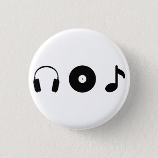 Music 1 Inch Round Button