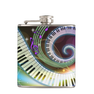 Music 1 Wrapped Flask
