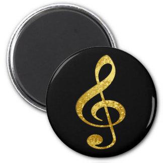 music 2 inch round magnet