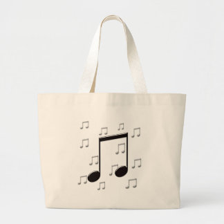 Music 8th Eighth Notes Large Tote Bag
