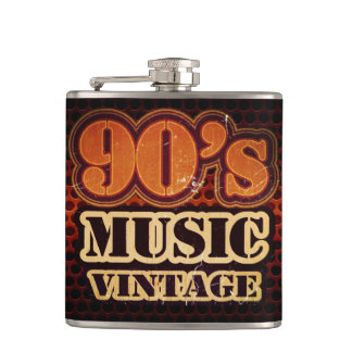 Music 90's Vintage Flask