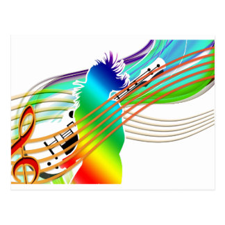 Music Addicted Postcard